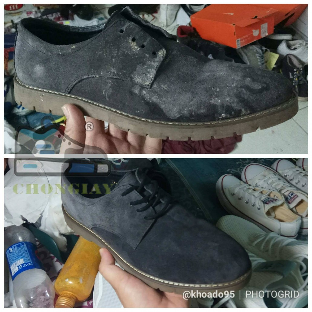 Hướng dân cách giặt giày da lộn đúng cách
